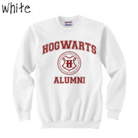PART 2 - Hogwarts Alumni Harry Potter White Crewneck Sweatshirt Size MEDIUM