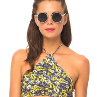 Motel Summer Crop Bikini Top in Aster Yellow