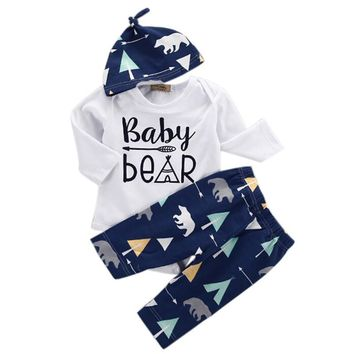 3 Piece Blue Baby Bear Set