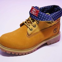 Timberland Fashion Outdoor Boots Borwn with Blue Star 008243270
