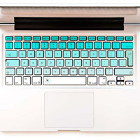 Mint Ombre - Decal Keyboard Sticker for Macbook Lenovo Asus Sony Dell HP Acer Samsung Toshiba Green Mint Zigzag