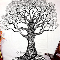 Native Purity Tree of Life Tapestry , Bohemian Boho Tapestry, Hippie Gypsy Wall Hanging , Tree of Life Tapestry , New Age Dorm Tapestry