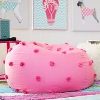 Bright Pink Crinkle Puff Beanbag
