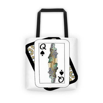 Play Your Hand...Queen Spade No. 3 Tote Bag
