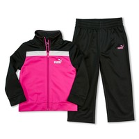 PUMA Colorblock Tricot Jacket & Pants Set - Girls