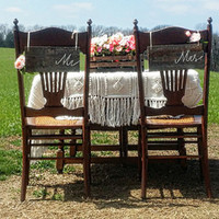 Wedding Signs/Mr and Mrs Wedding Signs/Wood Wedding Signs/Rustic Wedding Decor/Wedding Chair Signs/Rustic Wedding Chair Signs/Shabby Chic
