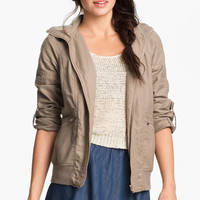 BP. Hooded Twill Jacket (Juniors) | Nordstrom