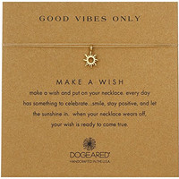 Dogeared Gold Make A Wish Good Vibes Sun Gold Necklace, 16""