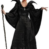 Maleficent Christening Black Gown Adult Deluxe Costume | Oya Costumes