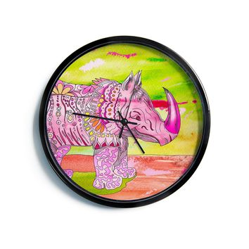"Catherine Holcombe ""Pretty in Pink""  Modern Wall Clock"