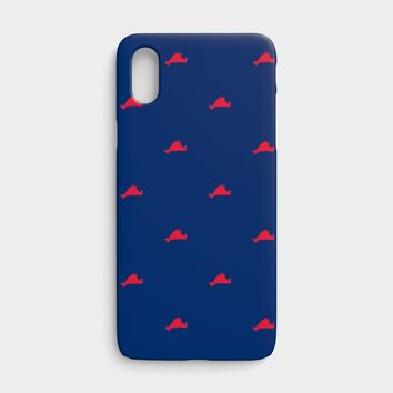 Martha's Vineyard Cell Phone Case iPhone X - Red on Navy