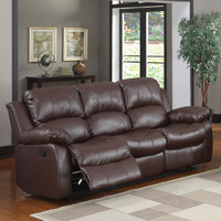 Coleford Brown Double Reclining Sofa | Overstock.com