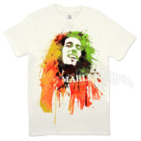 Bob Marley Watercolor Portrait White T-Shirt - Men's