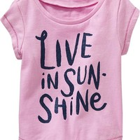 Old Navy Glitter Graphic Tees For Baby