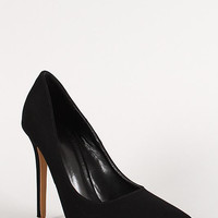 Shoe Republic Nubuck Pointy Toe Stiletto Pump Color: Black, Size: 8