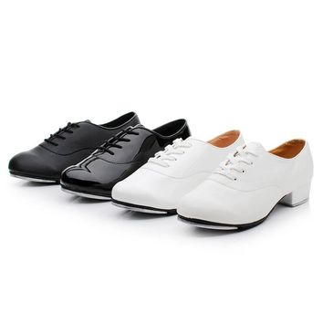 Tap Shoes For Man Children Male Adults White Leather Sports Men Shoes Aluminum Bottom Tap Shoes Chip Yi Dance Shoes