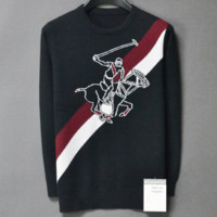 Burberry 2019 early spring new men's round neck knight jacquard long sleeve sweater