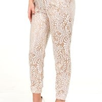 Everything You Want Pants: White/Nude - What's New