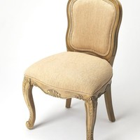 Flora Traditional Accent Chair Beige