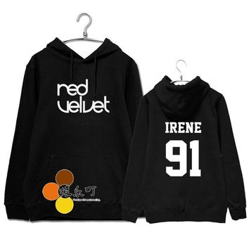 Kpop red velvet member name printing pullover hoodies for fans fashion quality fleece sweatshirt