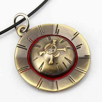 One Piece Luffy Straw Hat Metal Alloy Necklace