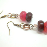 Jewelry, Earrings, OPPOSITES ATTRACT, Beautiful Stone Earrings, Chainmaille, Ready to Ship, Boro Ballers, Princess Tunacorn