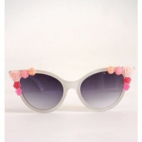 Flower Power Shades - White