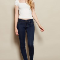 Dark Blue Super Soft High Waist Jegging