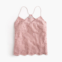J.Crew Womens Carrie Cami In Floral Lace