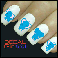 Nail Art Decals 32 Elephant Nail Decals