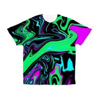 Trippy Green Purple Men's All Over Print T-Shirt> FULL LIST of Full Print T-shirts> Full Print Shirts