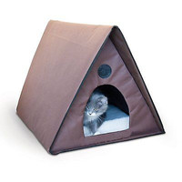 Waterproof Perfect Cat Pet House Waterproof Bed Heated Outdoor Kitty New