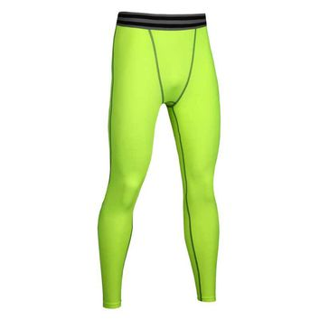 Men Running Tights Pro Compress Yoga Pants GYM Exercise Fitness Leggings Workout Basketball Sportswear Sports Clothing MA28