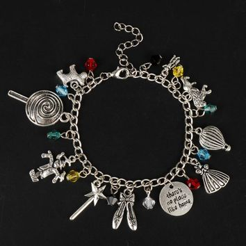Jewelry of A fairy tale The Wizard of OZ Bracelets for Women Bracelet in Chain Pendants Vintage Accessories Cosplay Charms