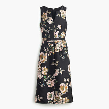 J.Crew Womens Collection Painterly Floral Dress