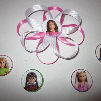 American Girl Dolls, Bows, Hairbows,  Interchangeable Hairbow By Sweetpeas Bows & More
