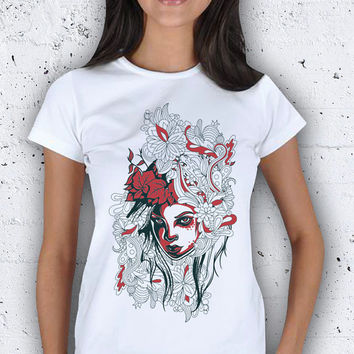 Flower Figure Women T-Shirt / Special Production (Limited Edition)