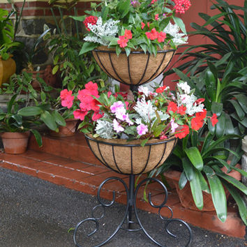 Classic Ironwork Two-Tier Planter