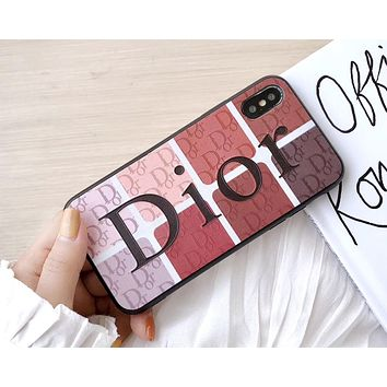 Dior Tide brand color matching letter print iphone8 plus mobile phone case cover #2
