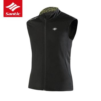 Santic Pro Cycling Jacket Sleeveless Pro Team Racing Mountain Road Bike Jacket Spring Autumn Windproof Bicycle Jacket Ciclismo