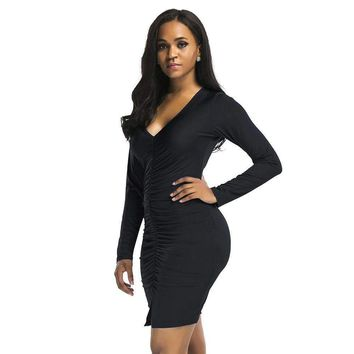 Wrap Bodycon Midi Dress
