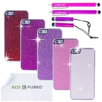 Eco-Fused iPhone SE, 5S and 5 Case Bundle including 5 Bling Hard Cases for Apple iPhone SE, 5S, 5 / 4 Stylus Pens / 2 Screen Protectors / Microfiber Cleaning Cloth