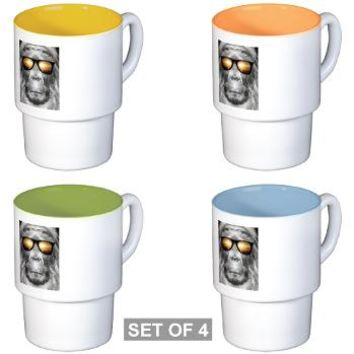 Bigfoot In Shades Stackable Mug Set (4 mugs)> Bigfoot In Shades> Perkins Designs