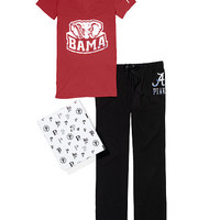 University of Alabama V-neck Tee & Boyfriend Pant Gift Set - PINK - Victoria's Secret