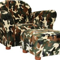Fantasy Furniture Roundy Chair with Ottoman