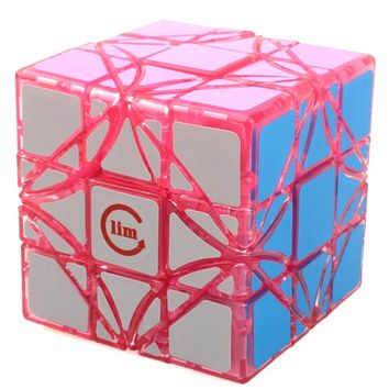 Brand New Limcube Dreidel Transparent Pink 65mm 3x3x3 Magic Cube Speed Puzzle Cubes (Limited Edition) Kids Toys