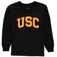 USC Trojans Youth Arch Long Sleeve T-Shirt - Black