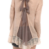 Cinderella Lace & Bows Knit Blouse