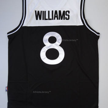 Rare Deron Williams Brooklyn Nets 8 New NBA Jersey Deron Williams 8 Brooklyn Nets Basketball Jersey All Stitched and Sewn Any Size S - XXL