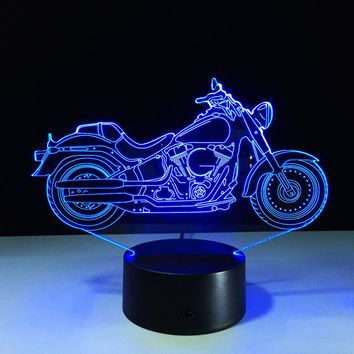 Motorcycle Shaped Table Led Lamp